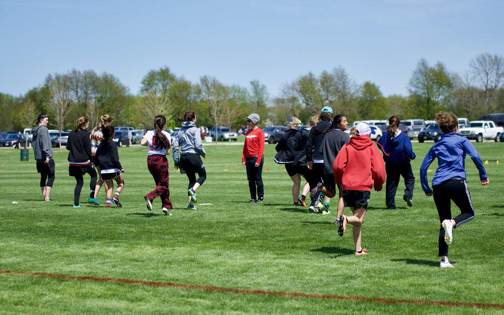 Coach. Stuarts Sports Complex. Montgomery, Illinois. April 2017. © William D. Walker