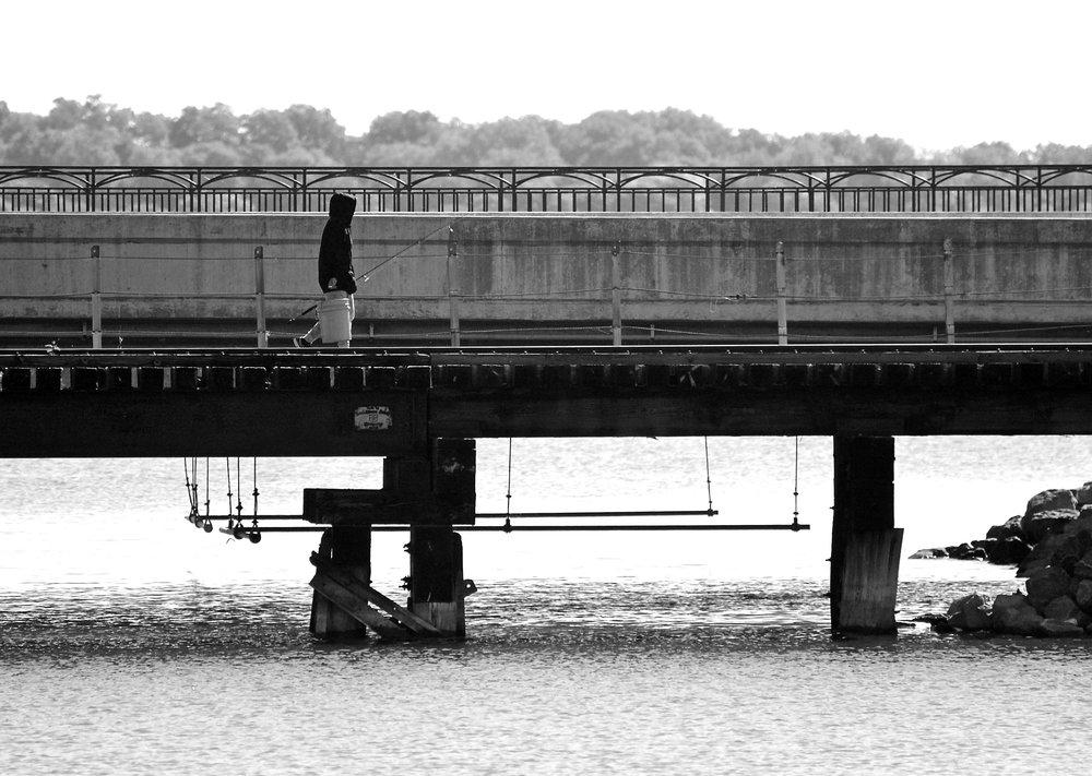 Fishing. Monona Bay. Madison, Wisconsin. September 2015. © William D. Walker