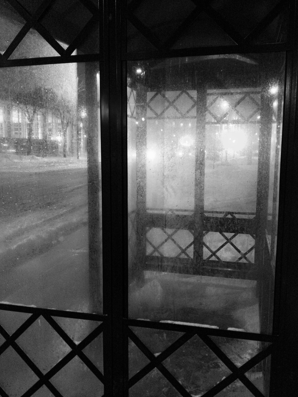 Shelter. East Washington Avenue. Madison, Wisconsin. February 2014. © William D. Walker