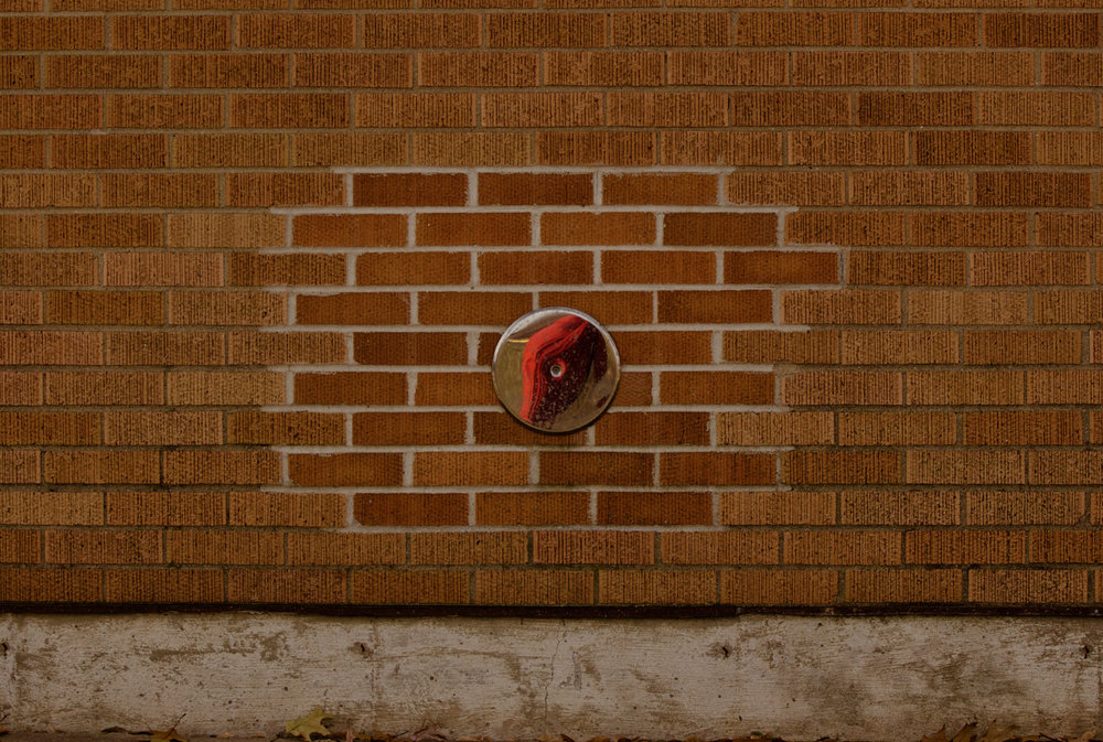 Self Portrait with Bricks. Eagle Heights. Madison, Wisconsin. December 2017. © William D. Walker