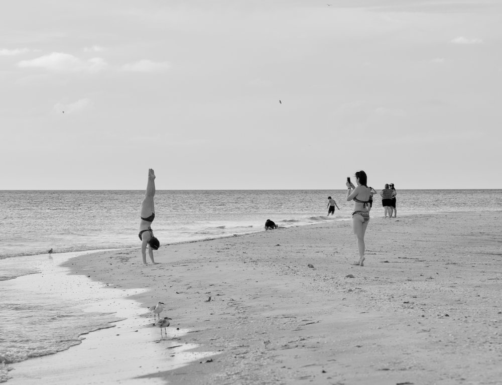 Standing. Lido Key. Sarasota, Florida. October 2017. © William D. Walker
