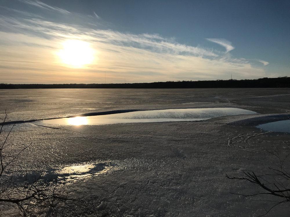 Open Water. Lake Wingra. Madison, Wisconsin. March 2018. © William D. Walker