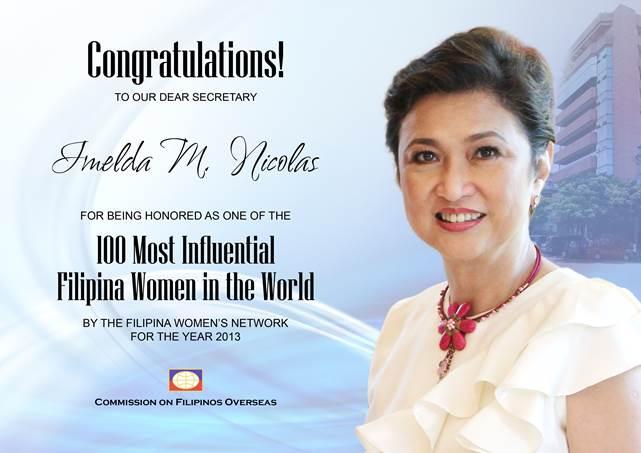 Imelda Nicolas Global100™ 2013