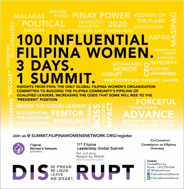 100 Influential Filipina Women * 3 Days * 1 Summit