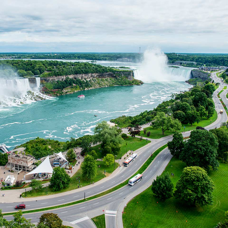 Aerial view of Niagara Falls (Photo: Tourism Toronto)