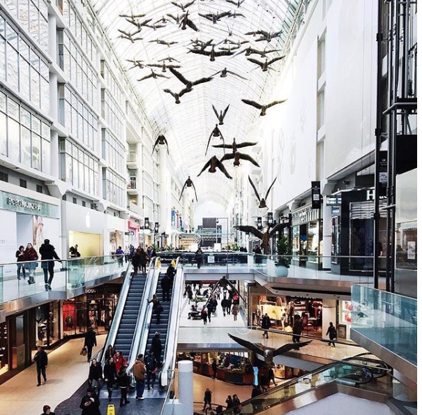 CF Toronto Eaton Centre (Photo: Tourism Toronto  I nstagram)