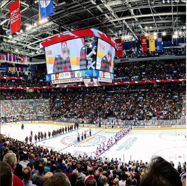 Team Canada at Air Canada Centre (Photo: Tourism Toronto Instagram)