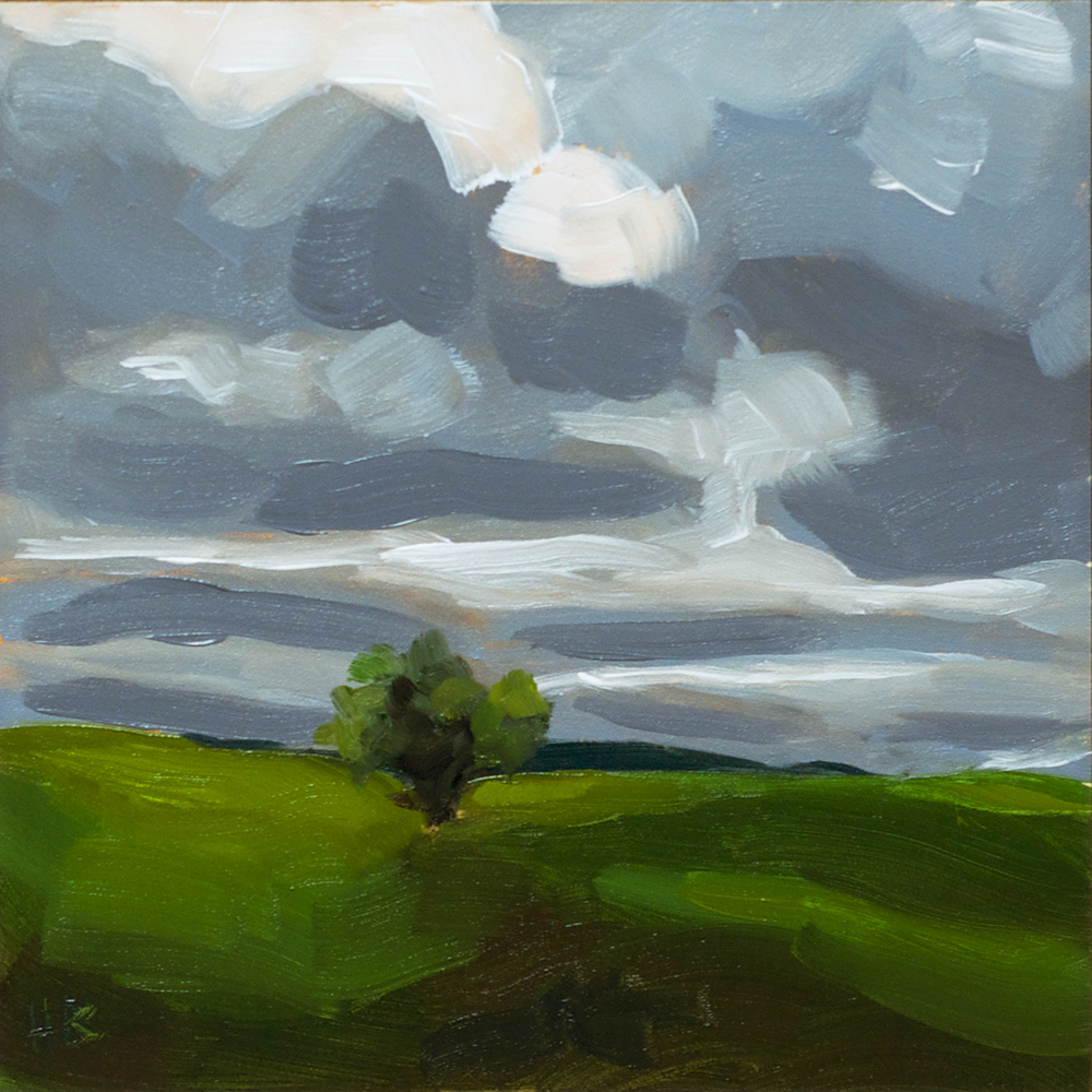 "6""x6"" oil on gessobord $50"
