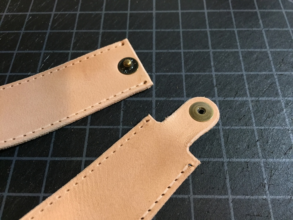 Stitch holes ready and snaps set.