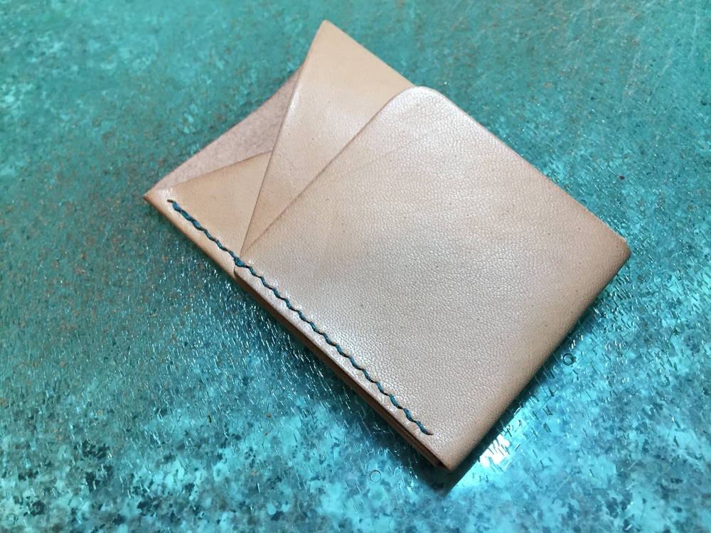 teal doublecross wallet