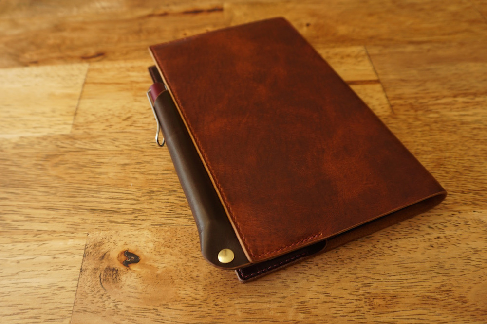 leather notebook cover pen