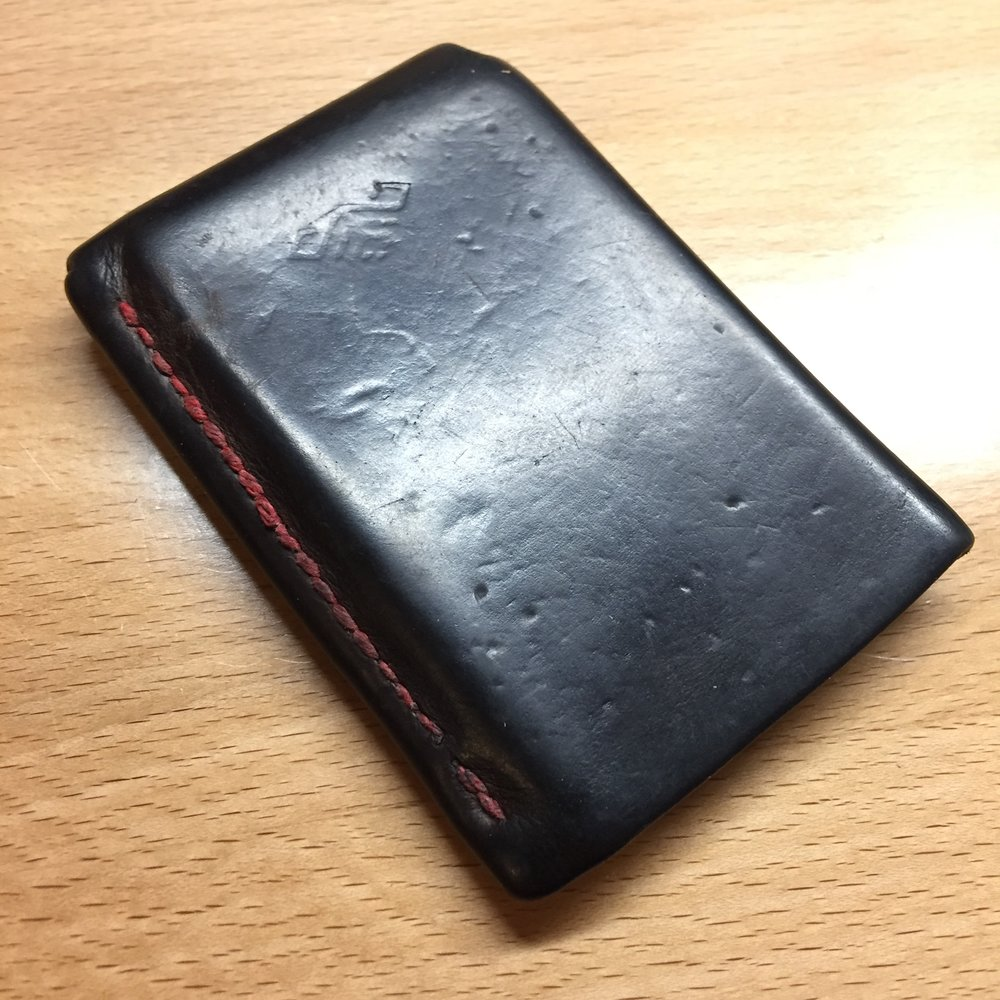 before back of wallet
