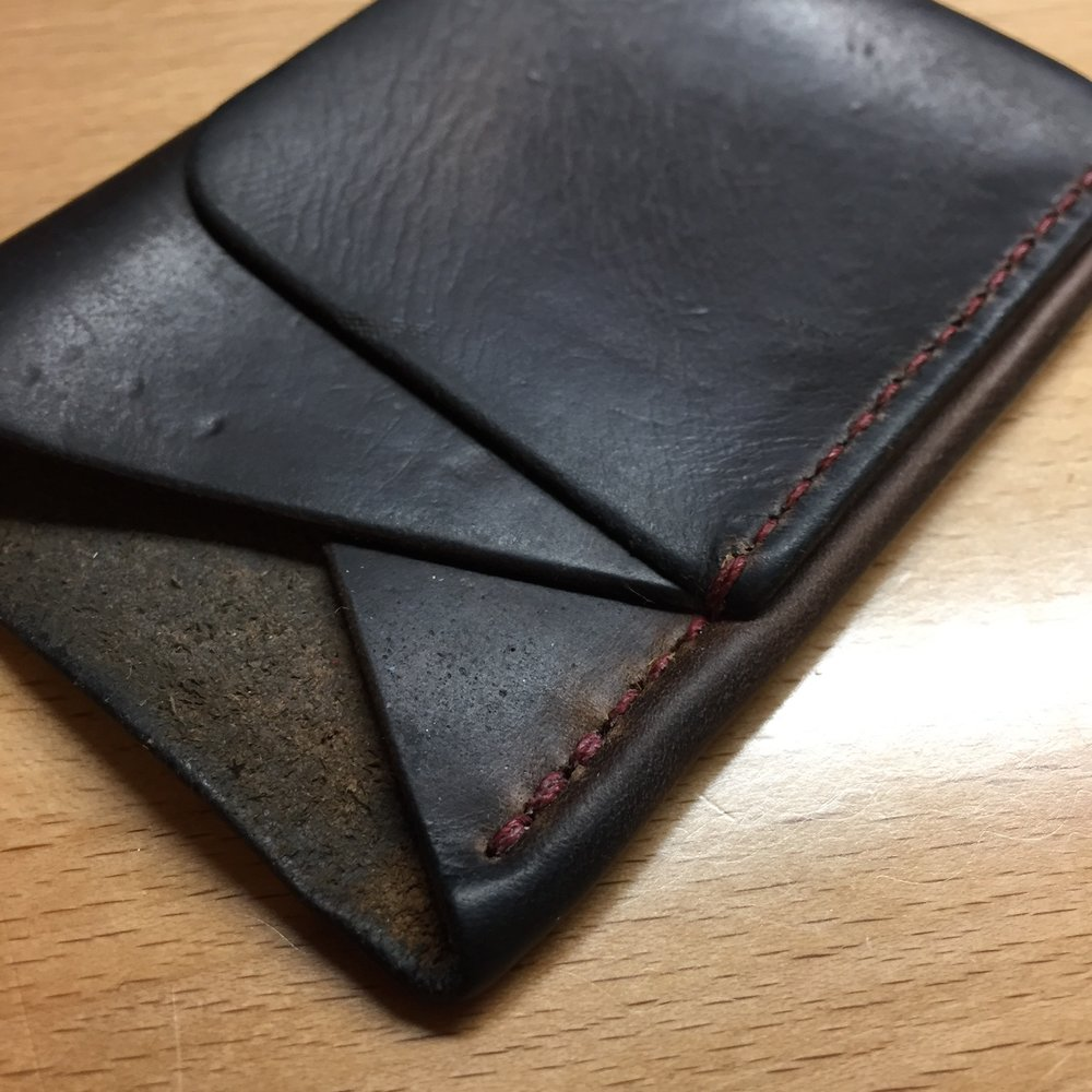 restitched wallet front