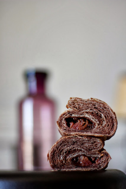 Chocolate Cardamom Plum Croissants