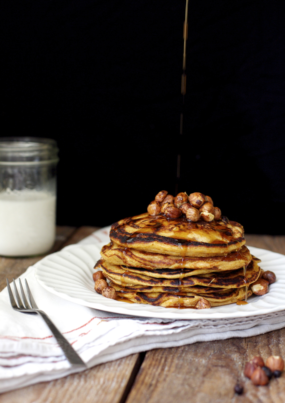 hazelnut sweet potato pancakes