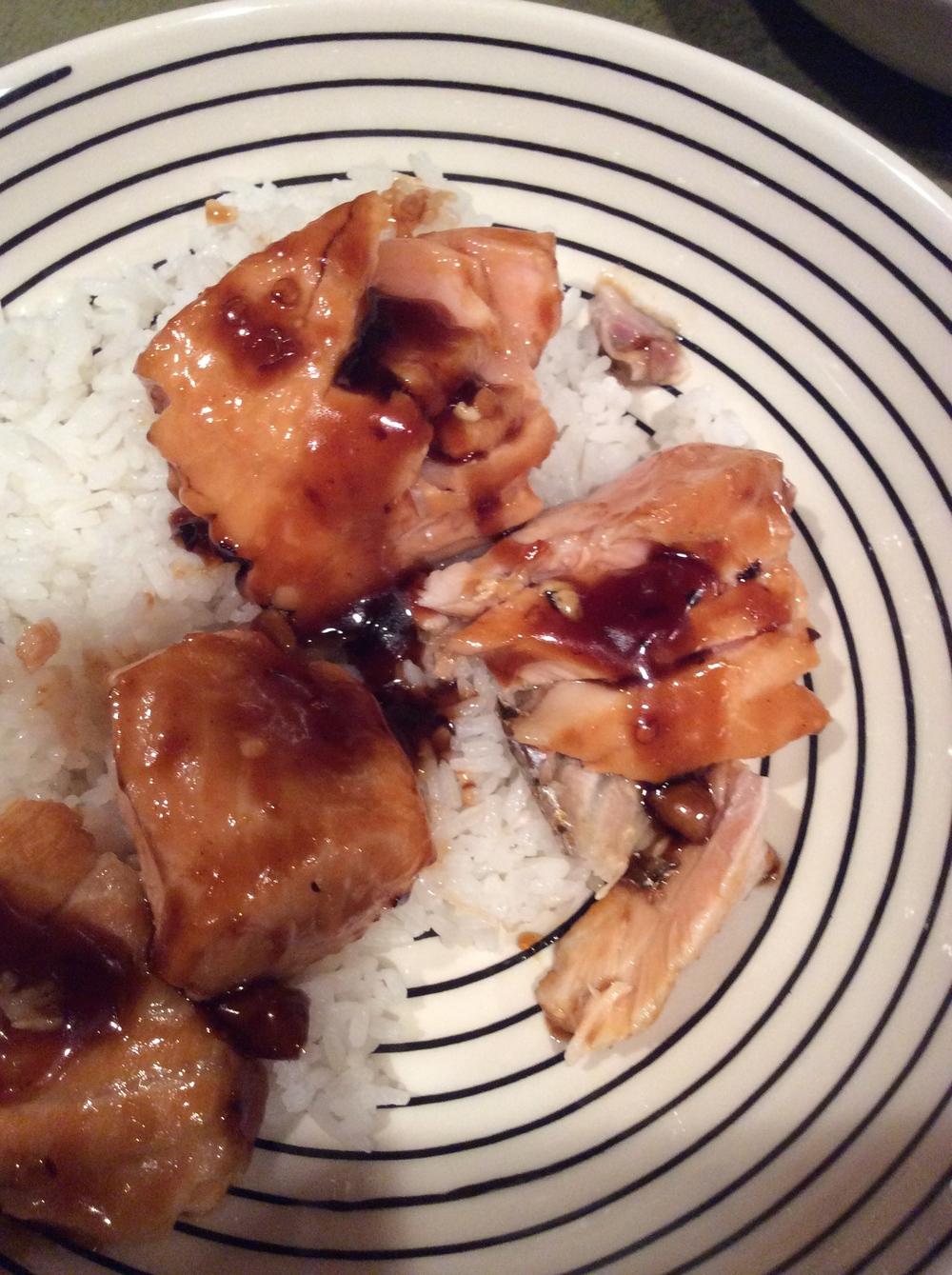 Asian Salmon Bowl + Lime Drizzle