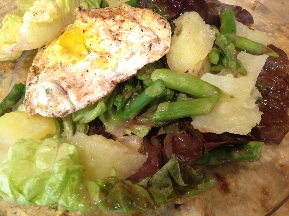 Butter Lettuce Salad + Egg + Potato