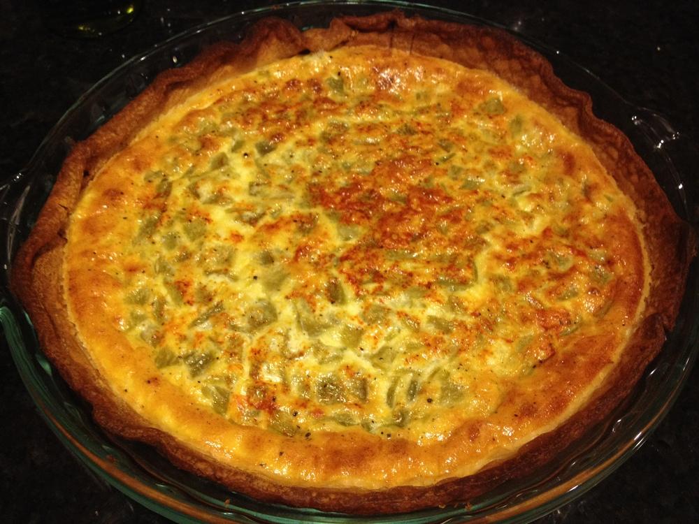 Green Chile Quiche