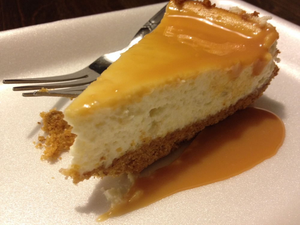 Banana Caramel Cheesecake, made during our Banana Dessert Party