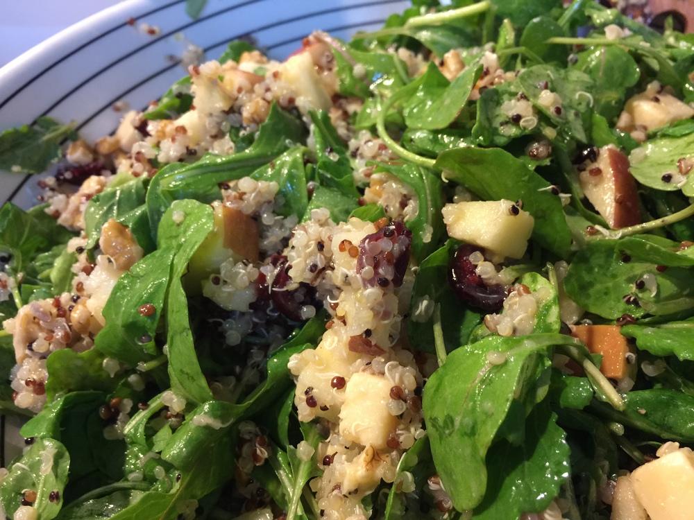Quinoa Salad + Apples + Gouda