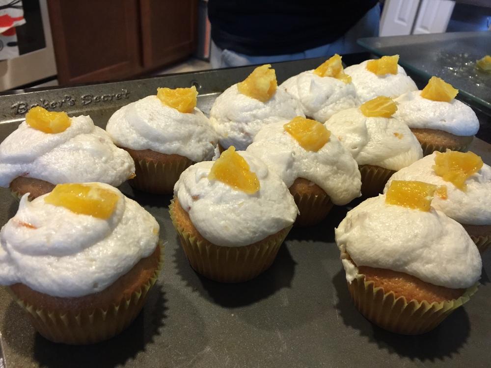 Orange Olive Oil Cupcakes
