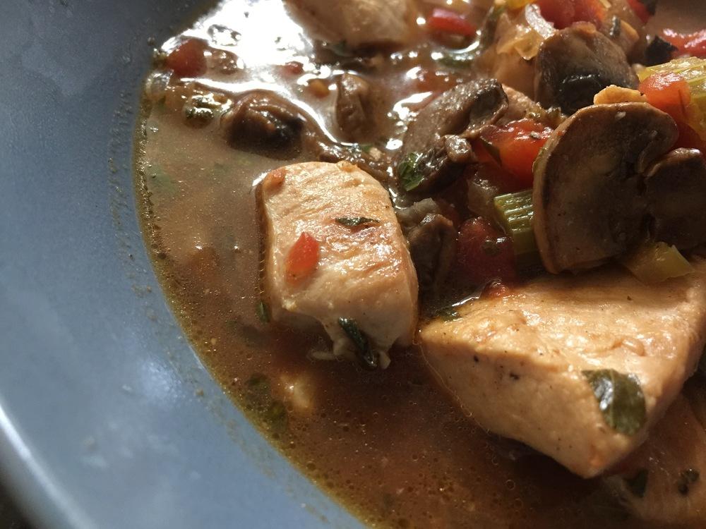 Spicy Oregano Chicken Stew