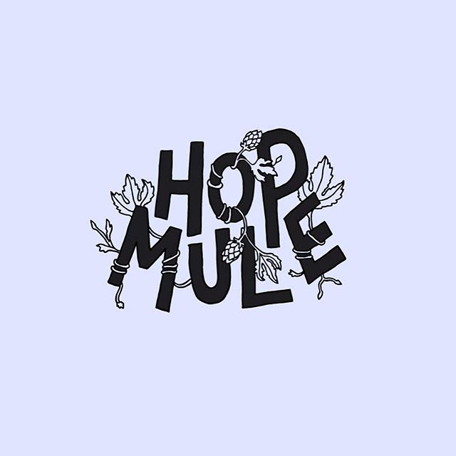Custom type and illustration for @nica_craftbeerco ´s Hop Mule Imperial IPA 🍻🐴🌾
