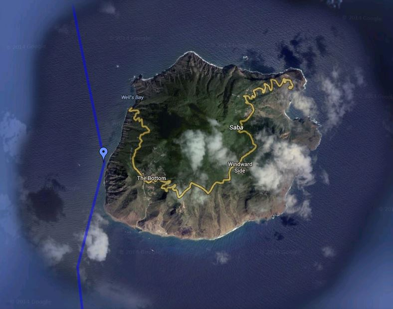 Waypoint Saba - Coming from the BVI on the way to Sint Eustatius Click here to view an updated position map.