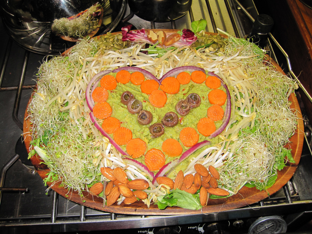 For Justin, love is a massive salad valentine.