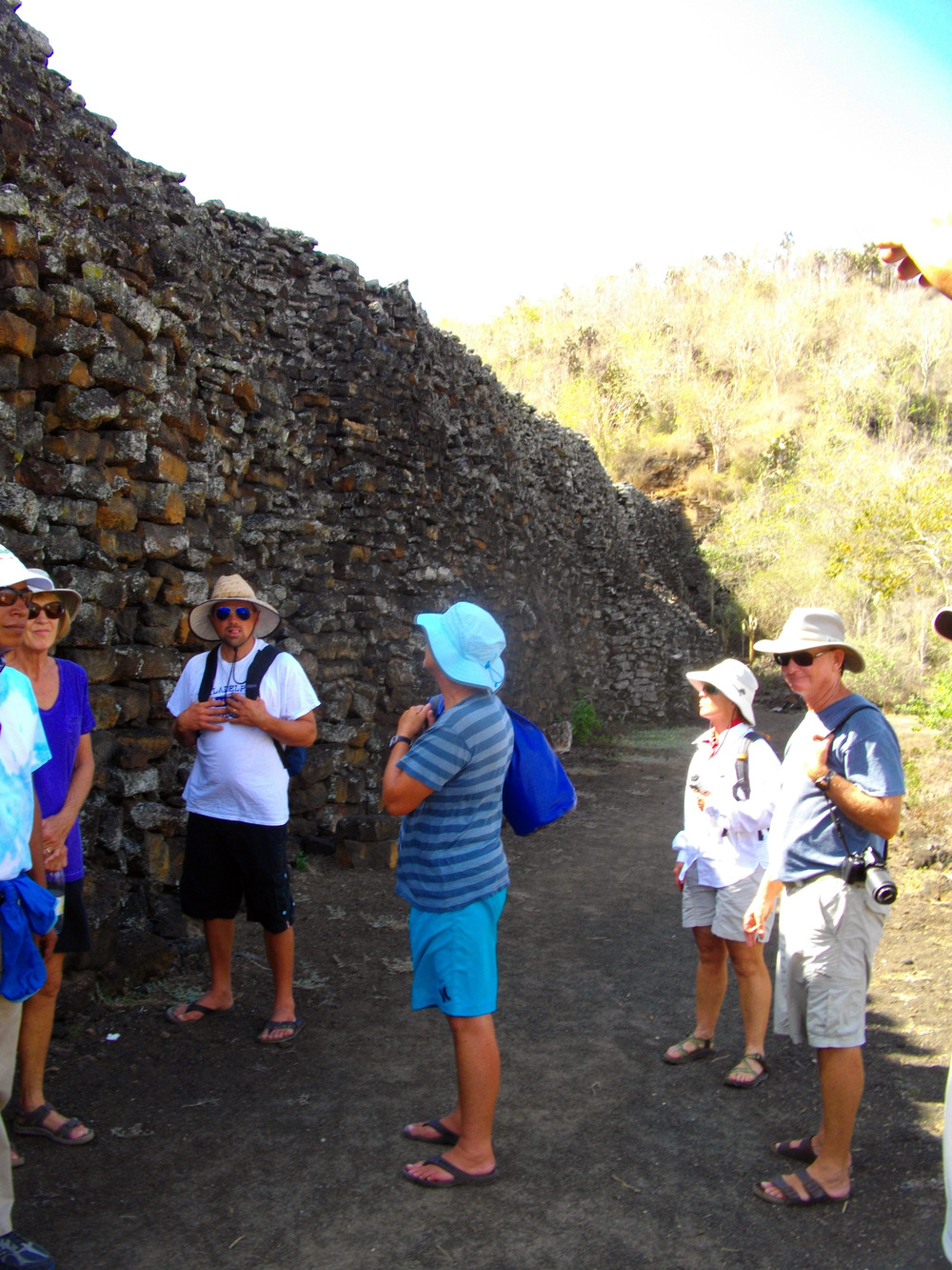 A visit to the Wall of tears, a remnant from the days when the Galapagos were used as a prison.