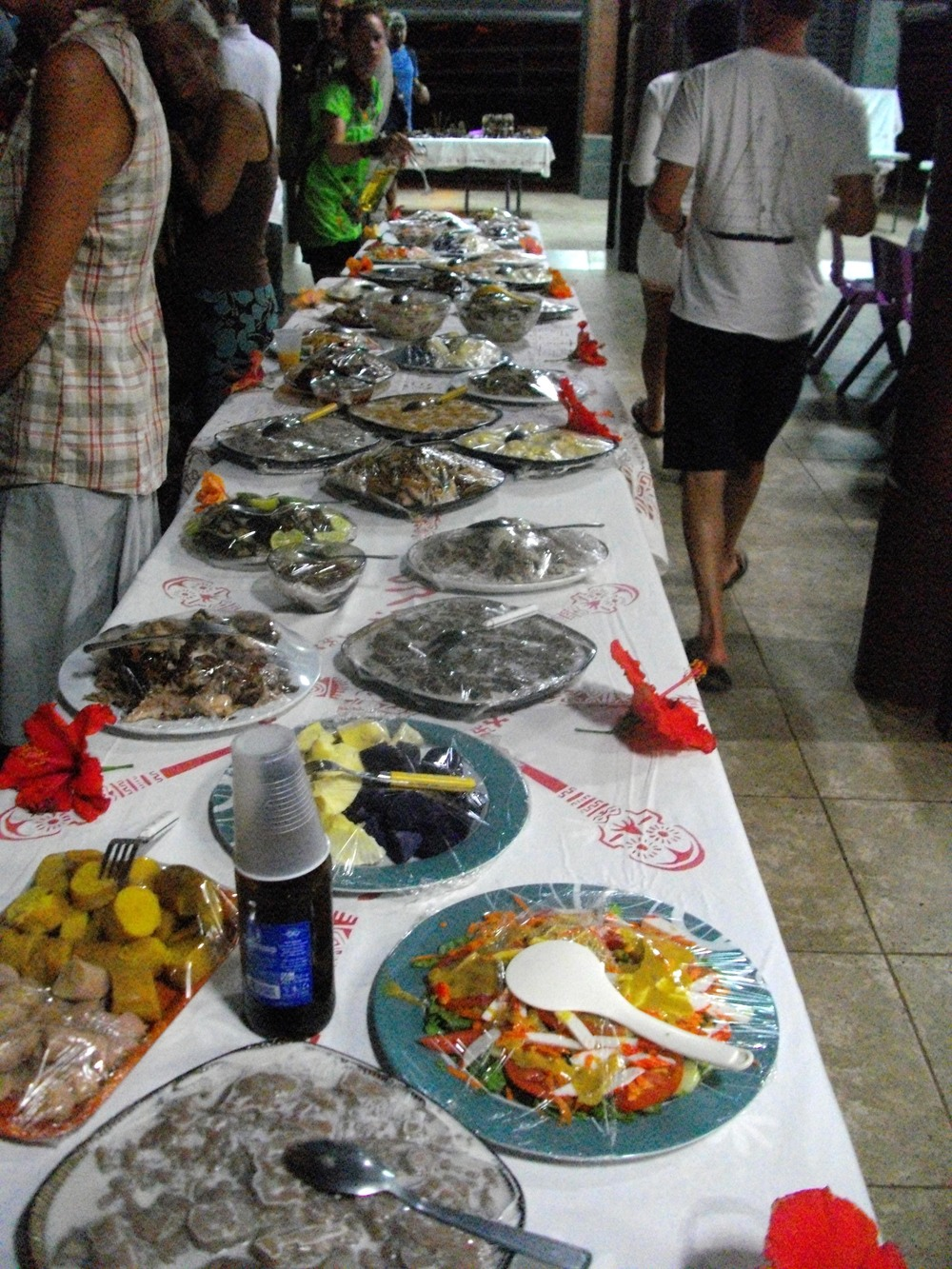 traditional fare was on the menu for the farewell festivities.