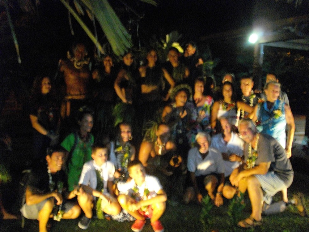 Rally members and local, traditional dancers enjoyed a farewell party as the stay in the Marquesas came to an end.