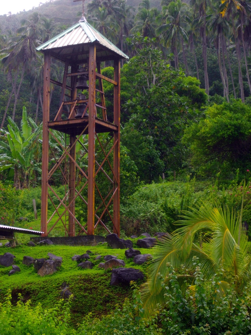 A church bell on Nuku Hiva.