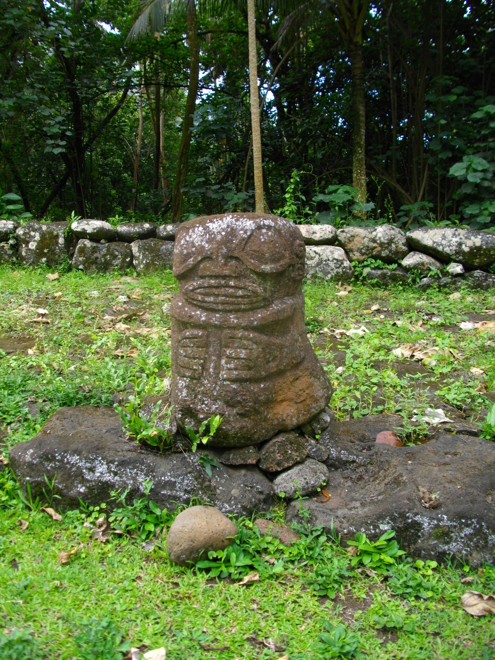 An ancient stone tiki.