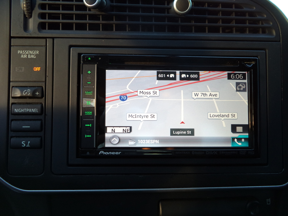 Custom head unit install, 2010 Saab 9-3 including hands-free calling, satellite radio and GPS antenna installation.