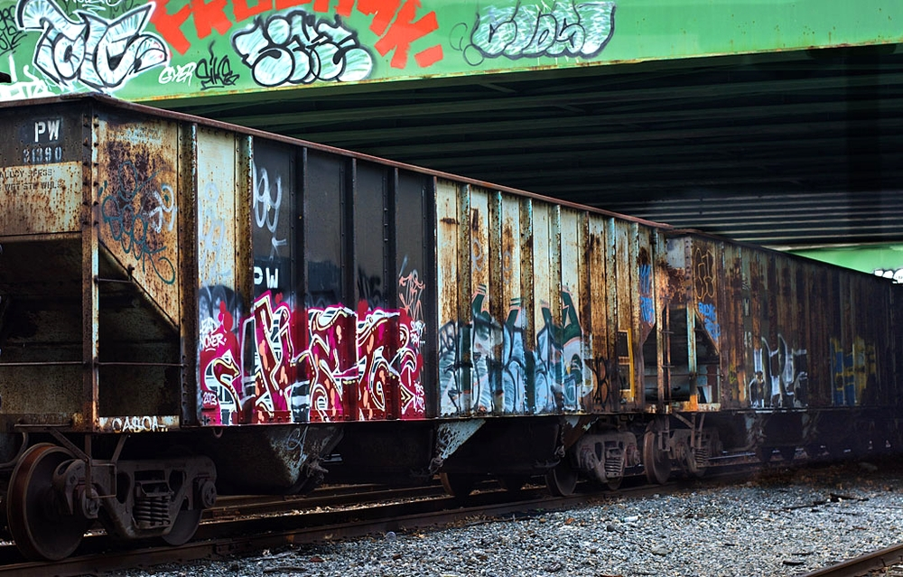Train Graffiti KET in Cranston