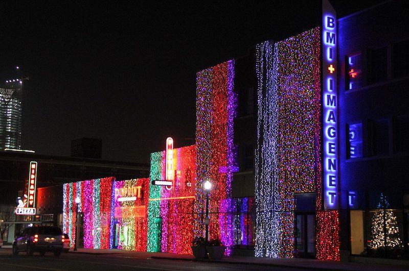 Automobile Alley Lights Oklahoma City