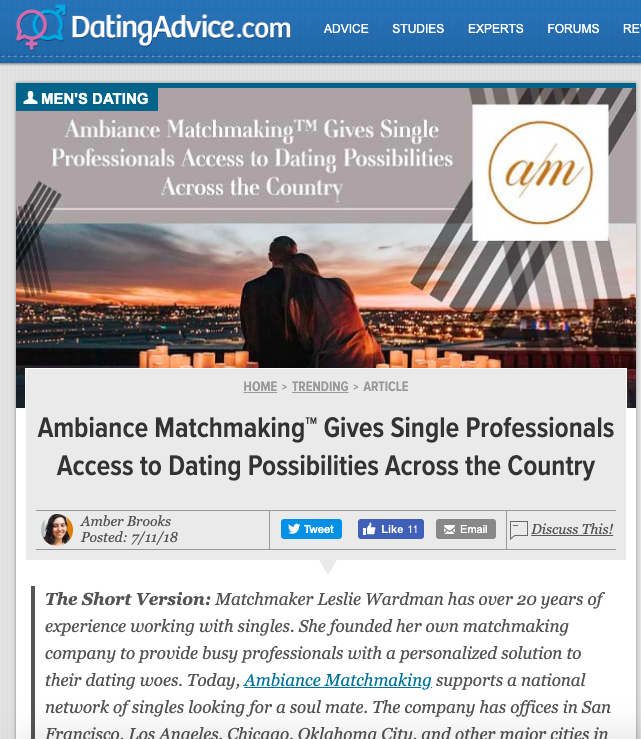 Dating advice from matchmakers