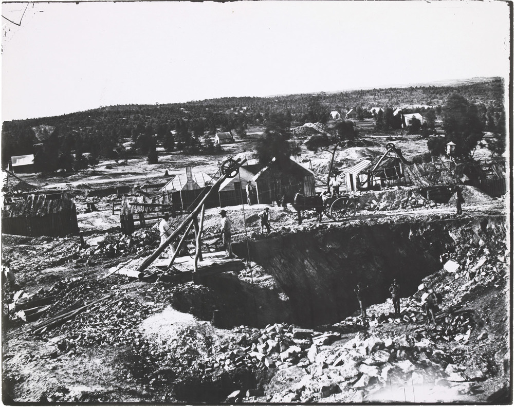 Richard Daintree's   Mineshaft at Quarry, Victorian Diggings   (1861)