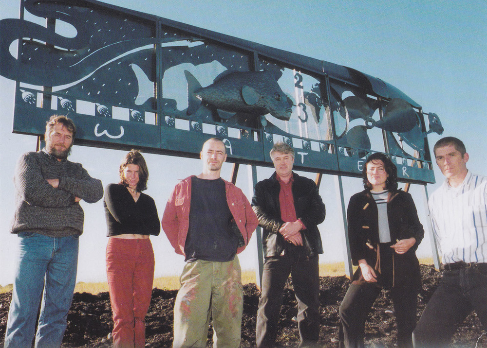 (from left to right): Paul Andrews, Isabelle Strachan, Stephen Garrett, Roger Noakes, Jane Tyrell, Michael Cusack. Commissioned by the 1997 Bicentenary Environmental Art Program. Location: K  ooragang Island, Newcastle 1997