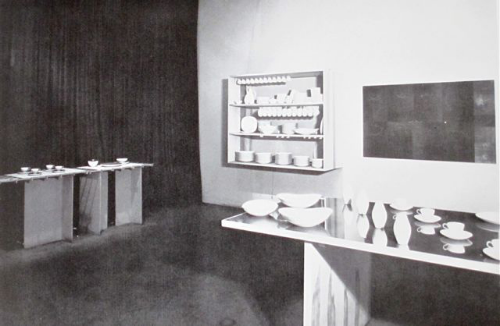 Installation at the Museum of Modern Art in New York, 1947. From Eva Zeisel: Designer for Industry, 1984