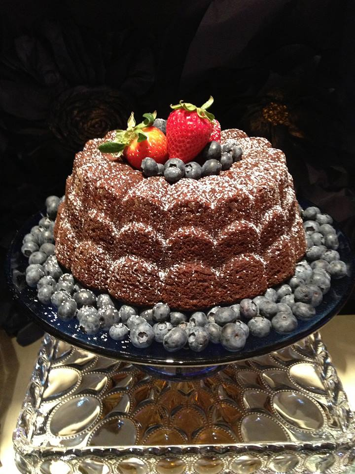 Vanilla Bundt Cake with Fresh Fruit   Bundt cake serves 10 for $30 (without fruit)