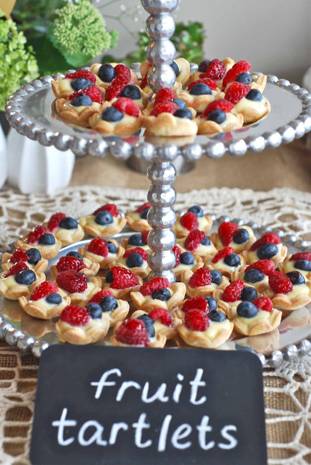 Raspberry and blueberry fruit tartlets