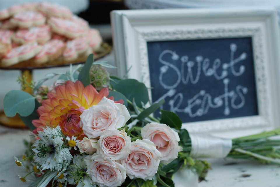 Milk glass and other vintage items were provided by both Classic Vintage Rentals and Something Borrowed of Portland, OR.