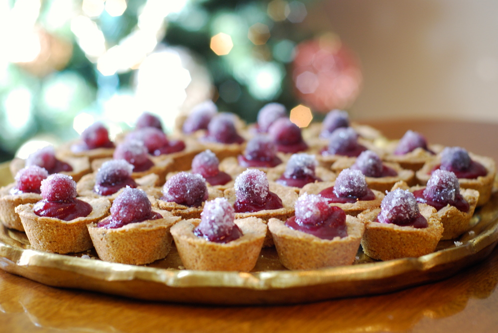 Cranberry Hazelnut Tartlets