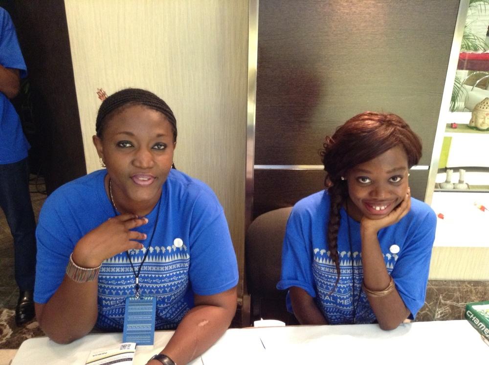 These lovely ladies were working Social Media Week!
