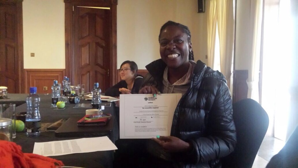 "Receiving our Journalism ""Hostile Environment"" Training Certificates. Yay!!!"