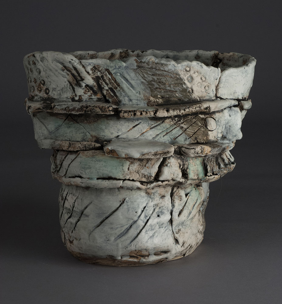 Thank You PV, 2015,  10x12x11 Inches, clay, glaze