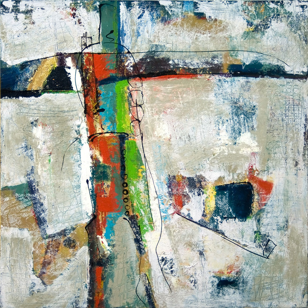 High Country Meadow, 2005, 30x30 Inches, acrylic on canvas
