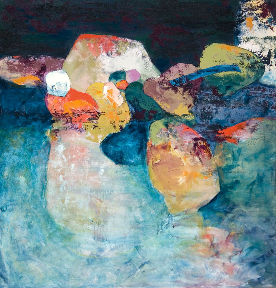 Tide's In, 2009, 54x52 Inches, acrylic on canvas